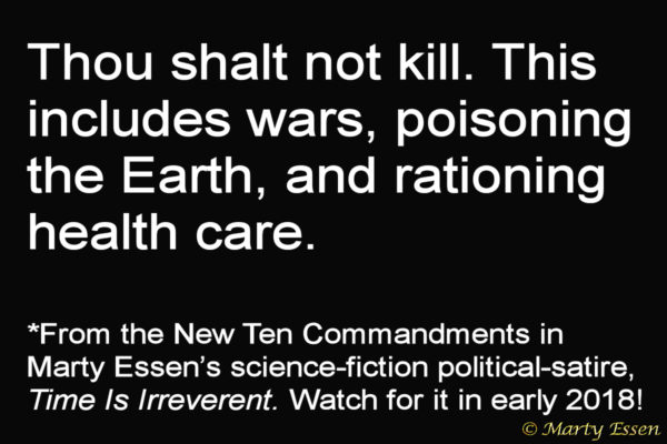 From the Liberal Ten Commandments, #6