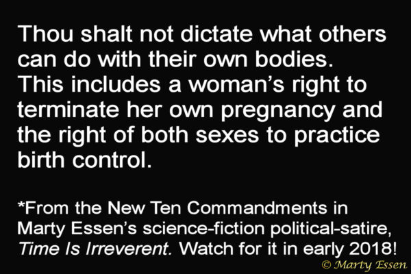 From the Liberal Ten Commandments, #7