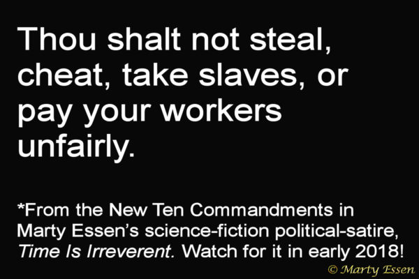 From the Liberal Ten Commandments, #8