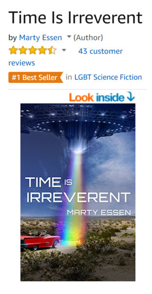 Time Is Irreverent is a #1 Best Seller in LGBT Science Fiction