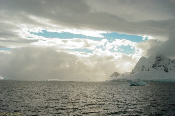 Along the Antarctica coast