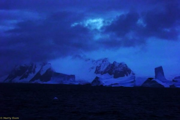 Antarctica at night