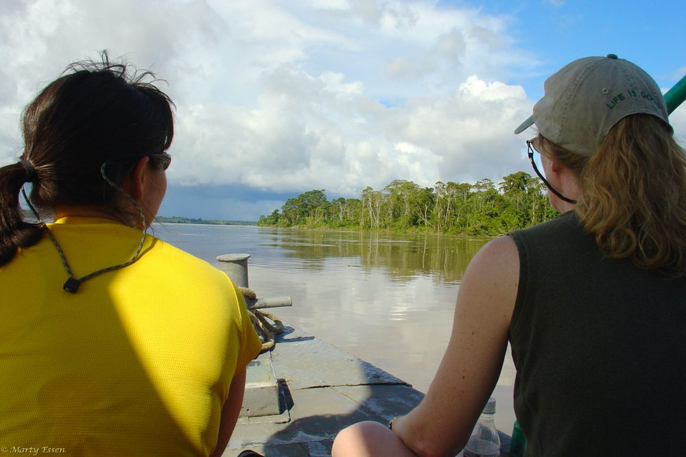 Heading up the Amazon
